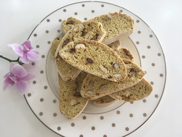 biscotti plate orchid