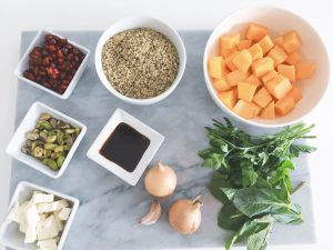 Freekeh salad ingredients
