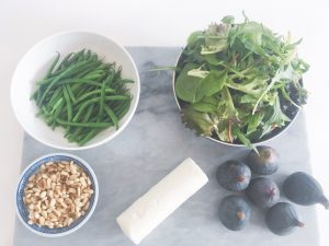 Fresh Figs Salad ingredients 1