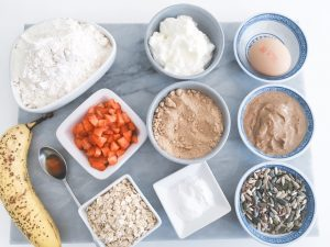 almond butter muffins ingredients