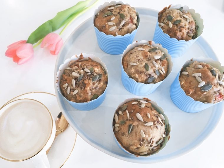 almond butter muffins serve 2