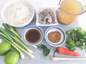 hot sour prawn noodle soup ingredients