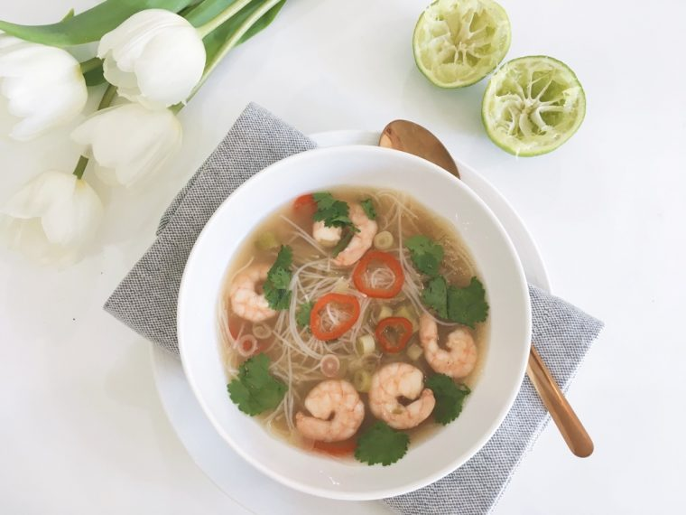 hot sour prawn noodle soup serve 1