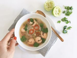 hot sour prawn noodle soup serve 3