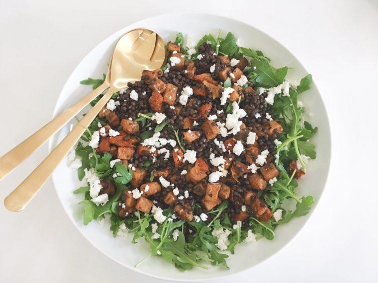 Lentils & Squash Salad serve 3
