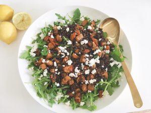 Lentils & Squash Salad serve 4