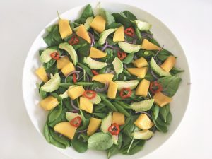 Mango Salad add mango