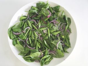 Mango Salad add spinach