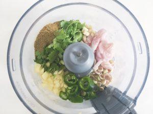 Thai Green Curry paste b4 blend