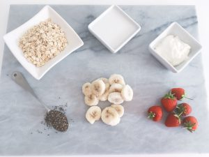 coconut overnight oats ingredients
