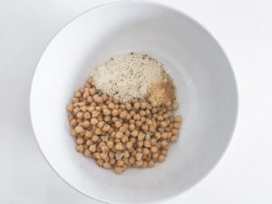 Parmesan Chickpeas salad add ingredients