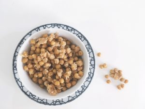 Parmesan Chickpeas salad chickpeas roasted