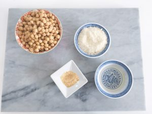 Parmesan Chickpeas salad ingredients