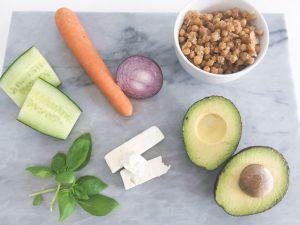 Parmesan Chickpeas salad ingredients salad