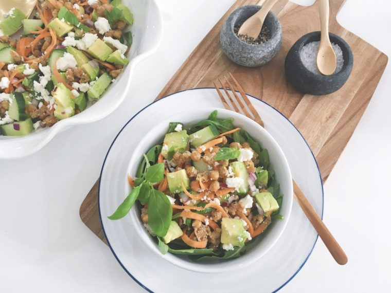 Parmesan Chickpeas salad serve 1
