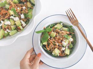 Parmesan Chickpeas salad serve2