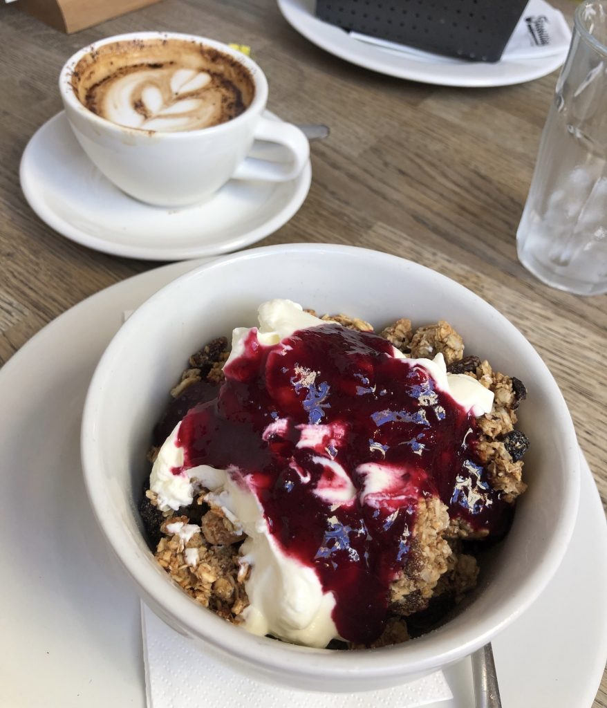 brunch granola bowl with yogurt